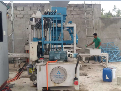 QT4-15 Hollow Block Machine in Philippines