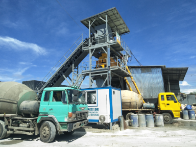 HZS90 Concrete Mixing Plant in Philippines