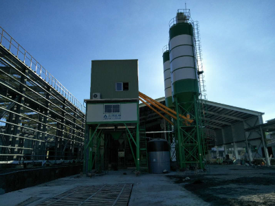 HZS180 Concrete Batching Plant in Taiwan
