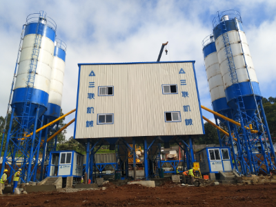 2HZS90 Concrete Batching Plant in Kenya